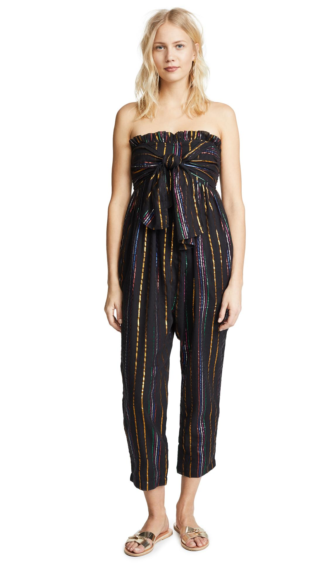 Apiece Apart Gipsea Sleeveless Jumpsuit In Black Fez Stripe