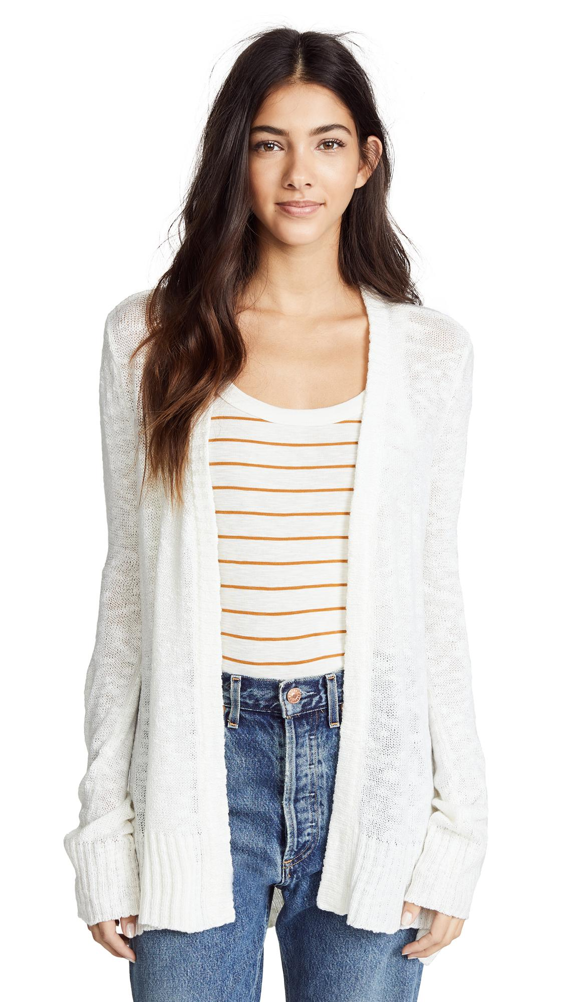 Bb Dakota Houston Cardigan In Off White
