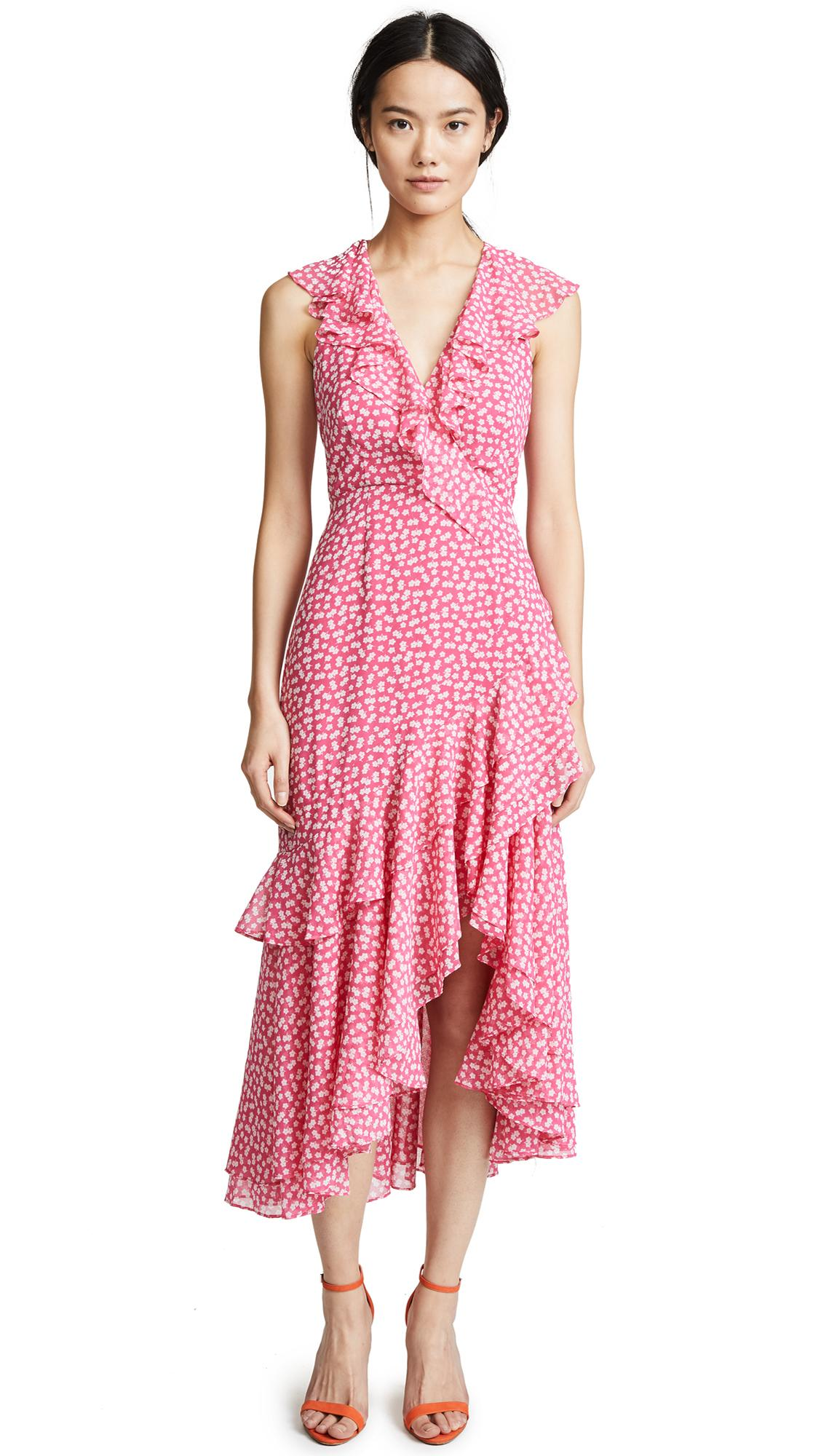 C/meo Collective Be About You Midi Dress In Magenta Daisy
