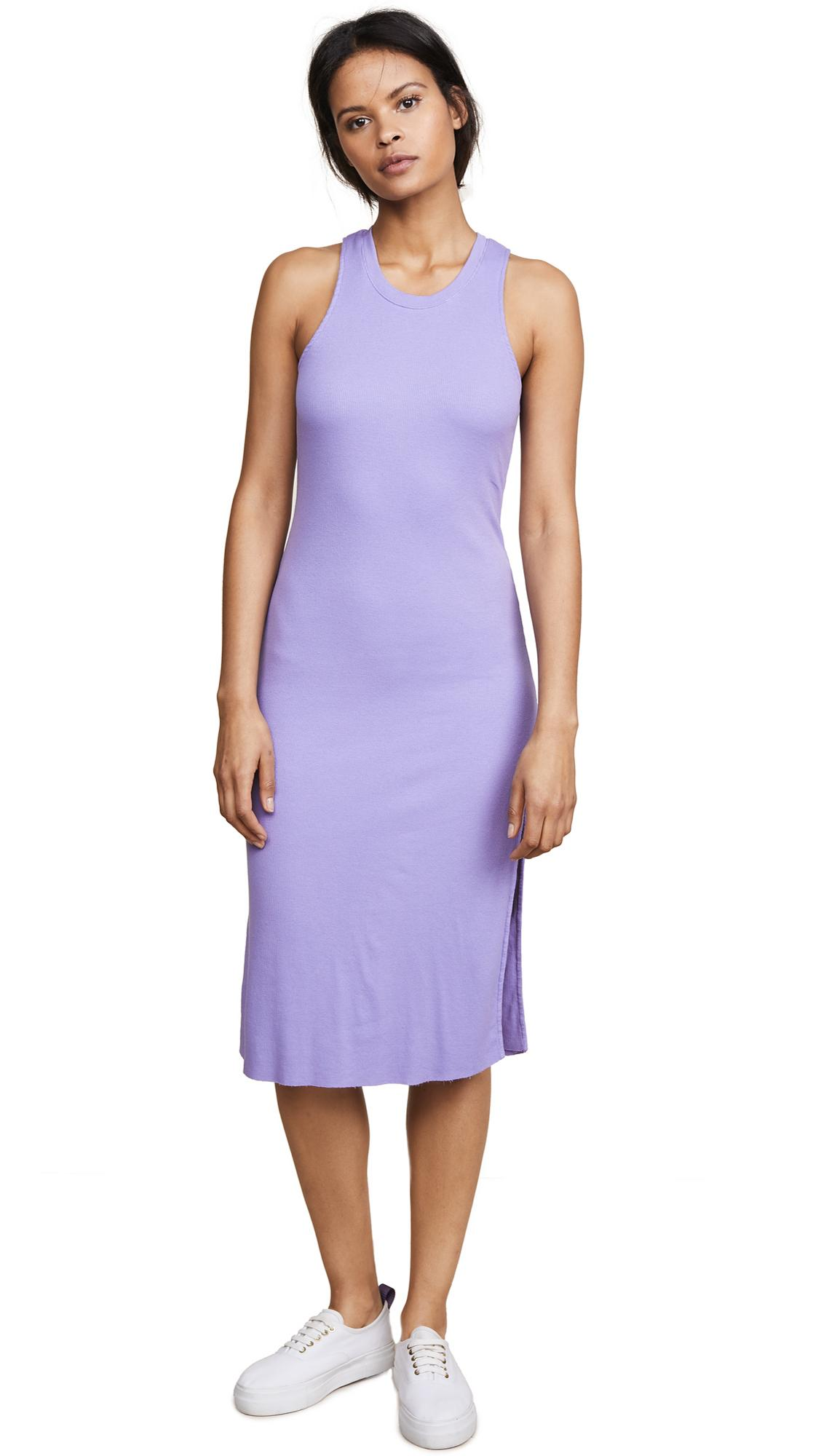 Cotton Citizen The Melbourne Tank Dress In Pastel Purple
