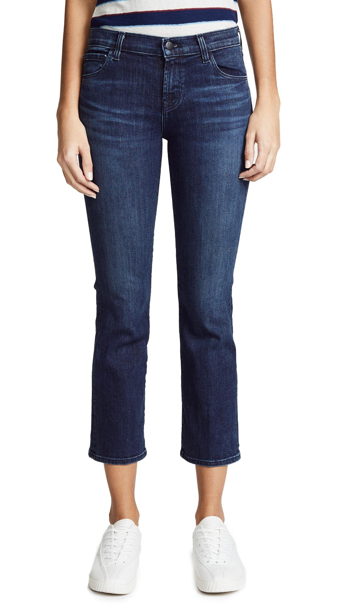 J Brand Selena Mid Rise Crop Boot Jeans In Unbound