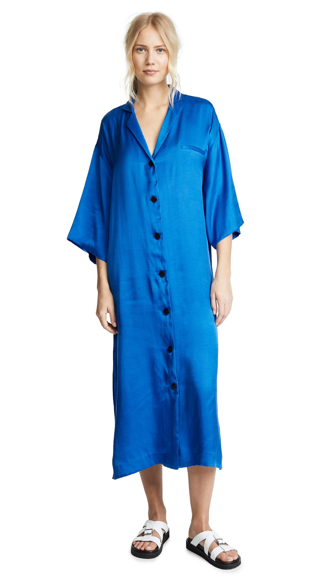 Mara Hoffman Saga Shirt Dress In Blue