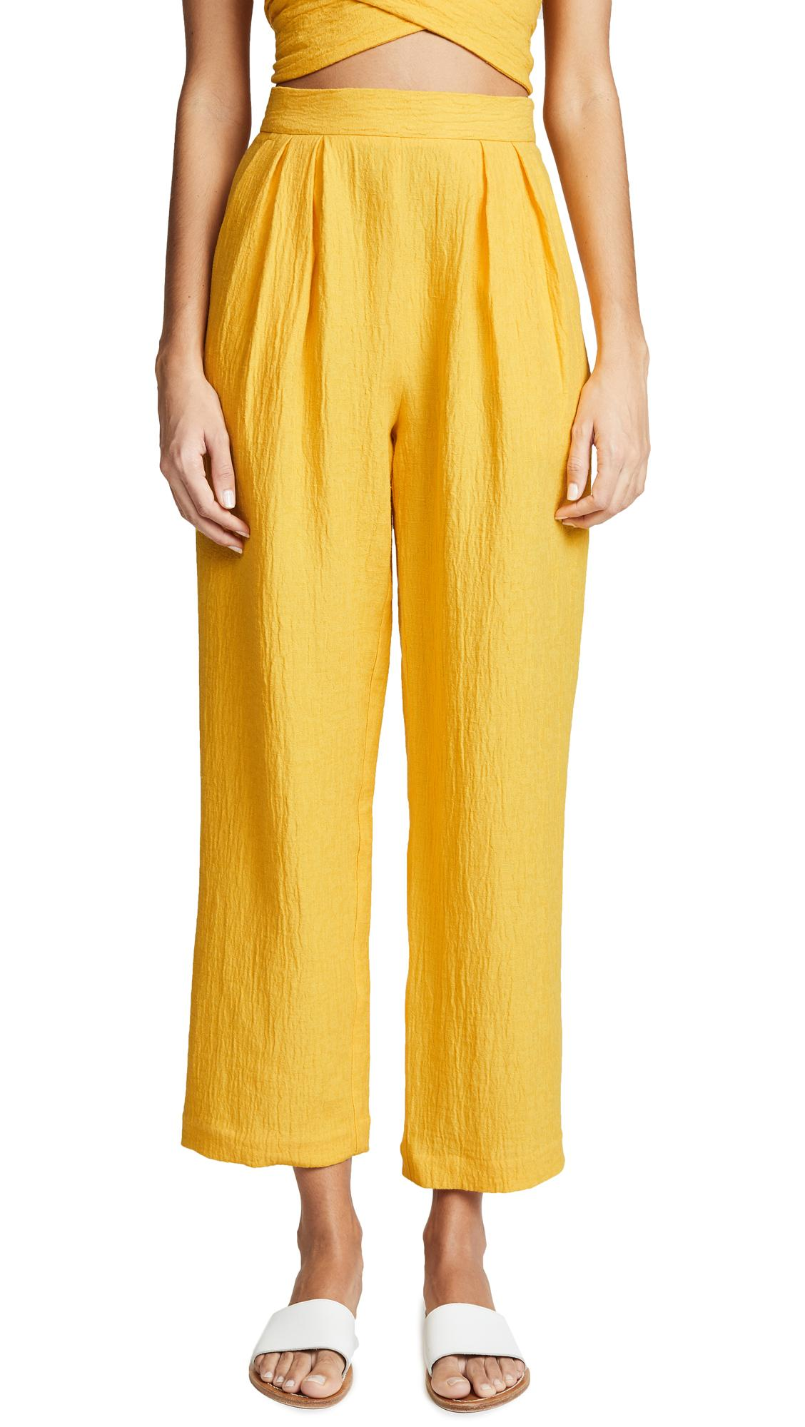 Mara Hoffman Audre Pants In Yellow