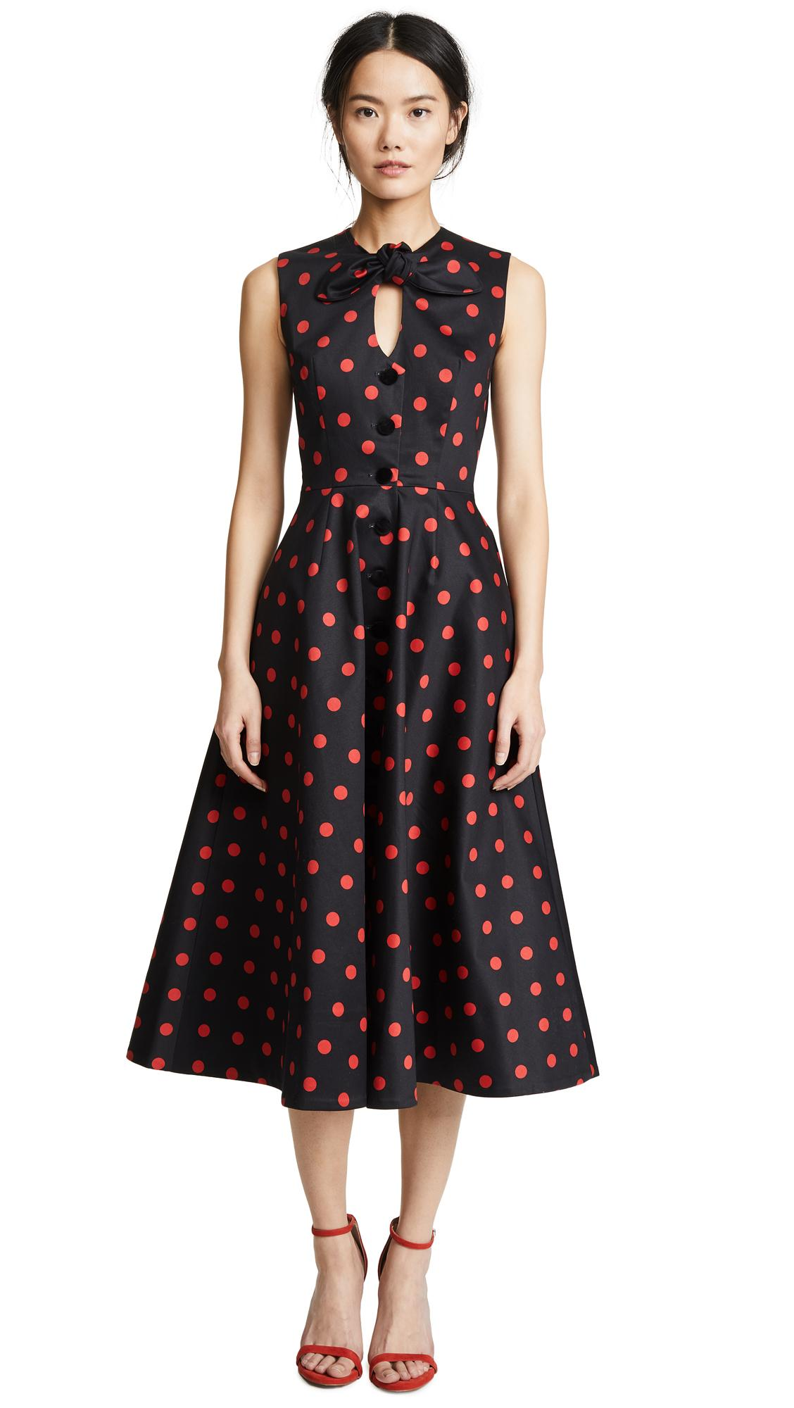 Marianna Senchina A-line Dress In Black/red