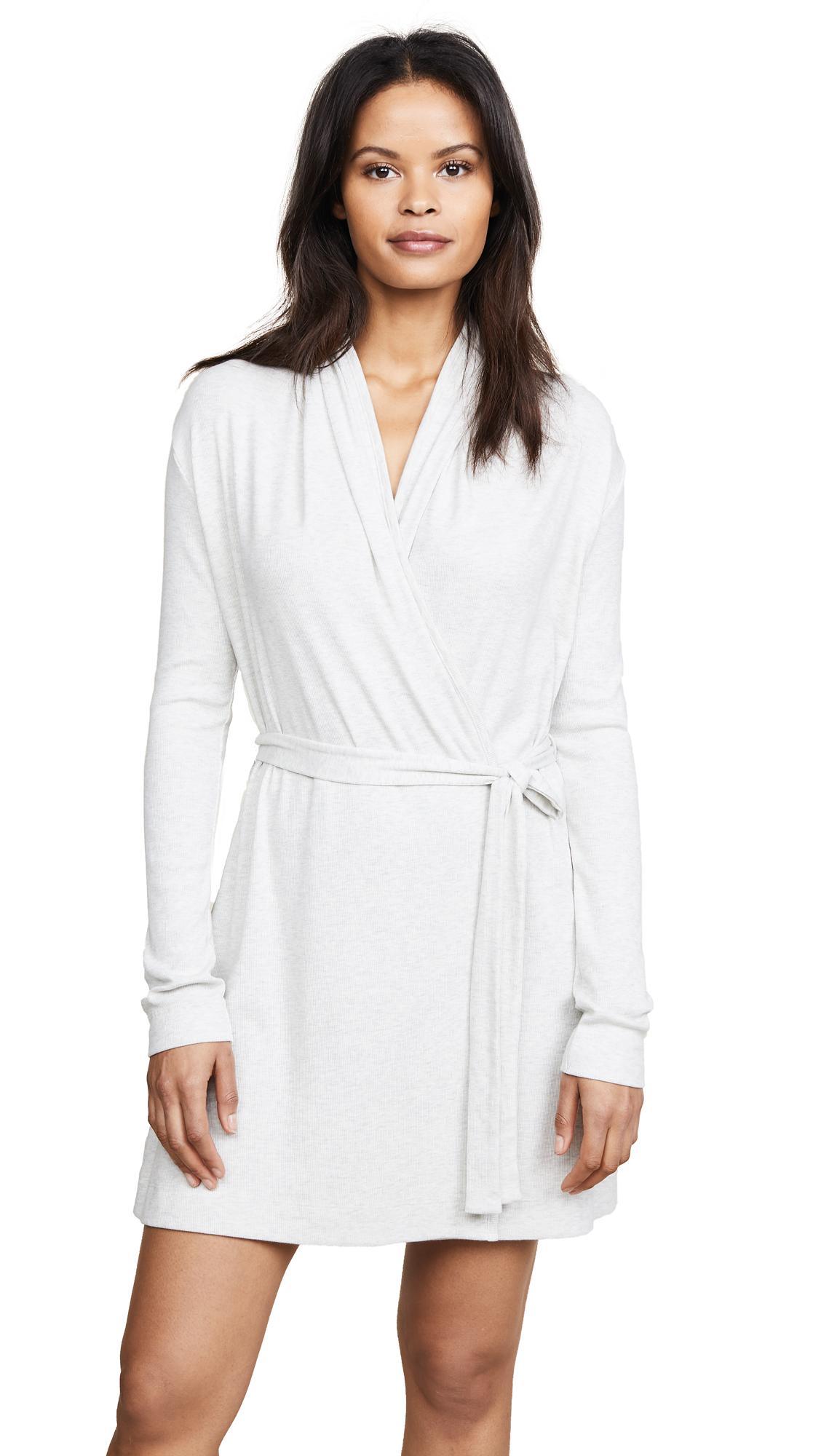 Skin Wrap Robe In Heather Grey