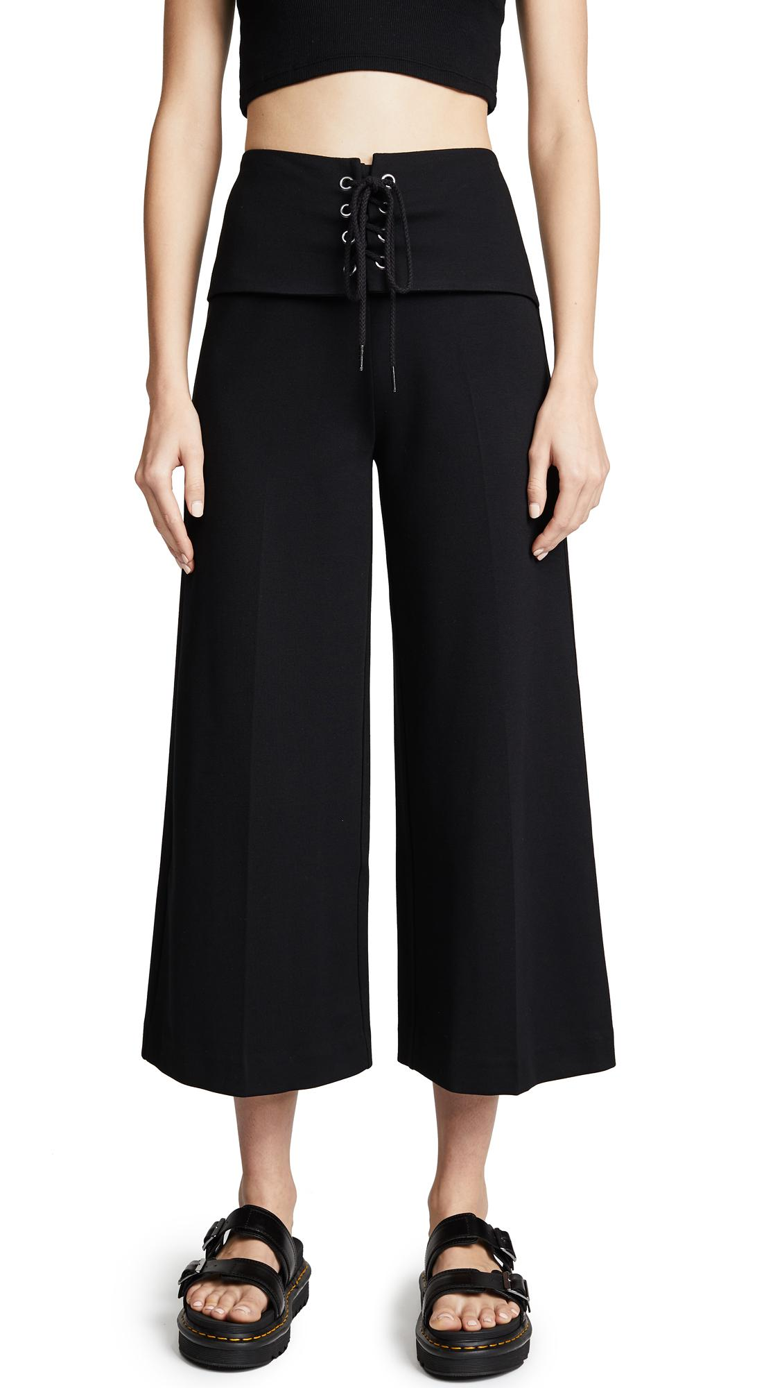 The Range Corset Crop Pants In Black