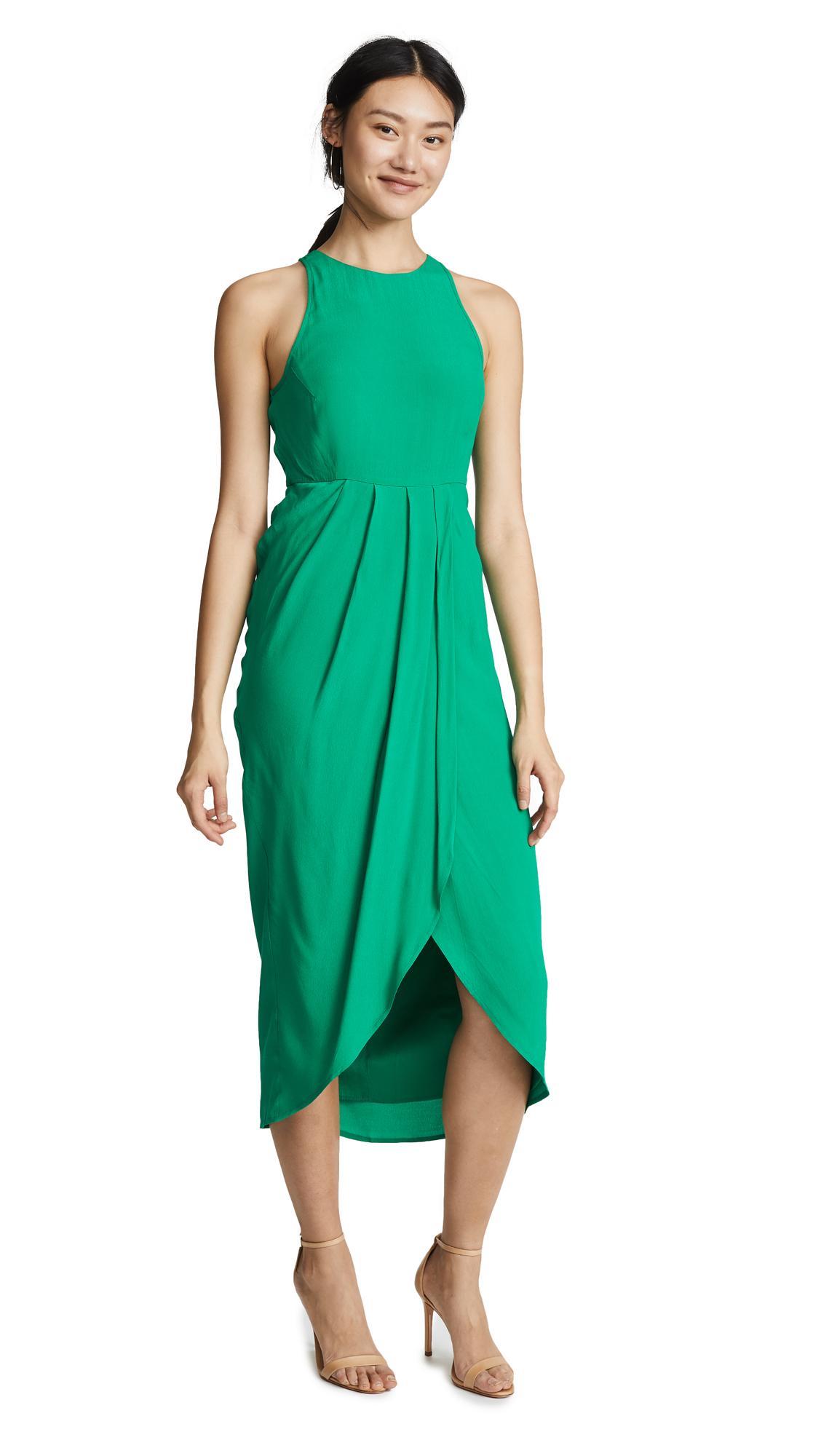 Yumi Kim So Social Dress In Emerald Green