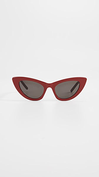 Saint Laurent Sl 213 Lily Sunglasses In Red/solid Grey