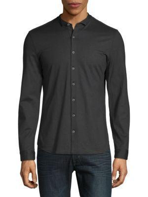 John Varvatos Long-sleeve Button-down Shirt In Black
