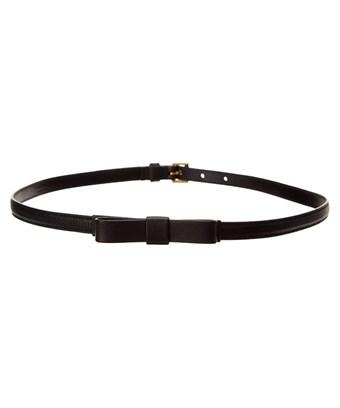 Prada Bow Saffiano Leather Belt In Nocolor