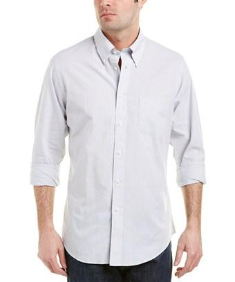 Brooks Brothers 1818 Regent Fit Woven Shirt In Grey