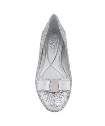 Salvatore Ferragamo Varina Ballet Flats   Argento In Silver