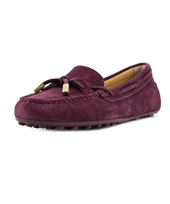 Michael Michael Kors Womens Daisy Moc Leather Closed Toe In Purple