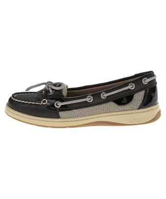 Sperry Womens Angelfish Leather Closed Toe Boat Shoes In Black