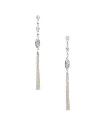 Ettika Tassel Drop Earrings In Nocolor