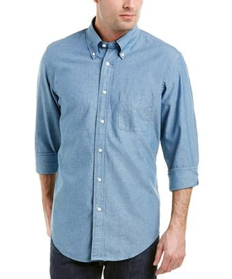 Brooks Brothers 1818 Regent Fit Woven Shirt In Blue