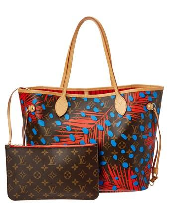 Louis Vuitton Limited Edition Blue Jungle Dots Monogram Canvas Neverfull Mm Nm In Nocolor