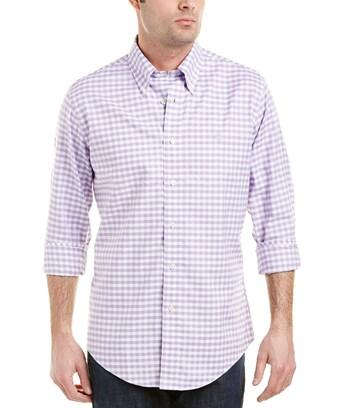 Brooks Brothers 1818 Brookscool Regent Fit Woven Shirt In Purple