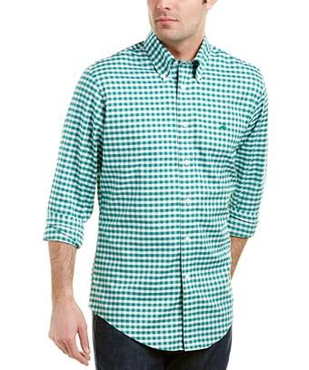 Brooks Brothers 1818 Regent Fit Woven Shirt In Green