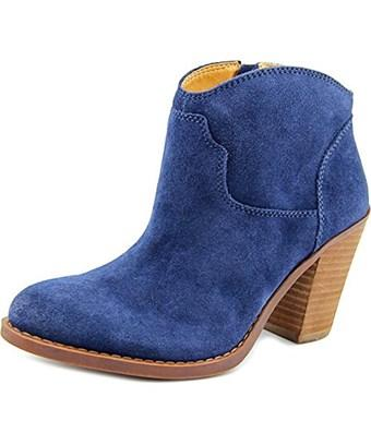 Lucky Brand Womens Elle Round Toe Ankle Fashion Boots, Lagoon, Size 7.5 In Blue