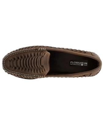 Florsheim Mens Berkley Leather Square Toe Penny Loafer In Brown