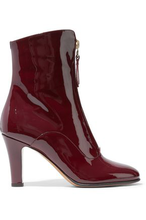 Valentino Garavani Woman Patent-leather Ankle Boots Brick