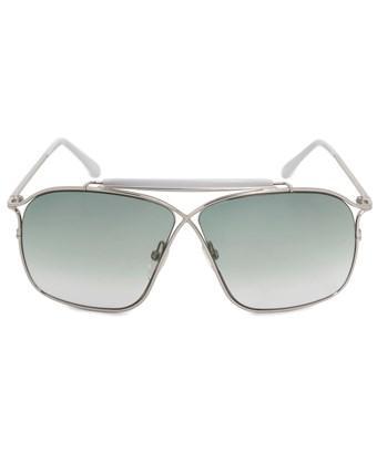 Tom Ford Felix Aviator Sunglasses Ft0194 16b 60   Silver Metal Frames   Grey Gradient Lenses