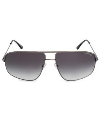 Tom Ford Justin Pilot Sunglasses Ft0467 13b 60 | Grey Metal Frame | Grey Gradient Lenses In Gray