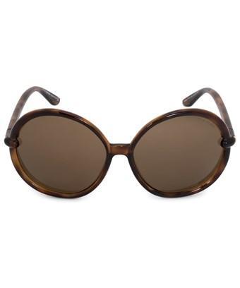 Tom Ford Caithlyn Round Sunglasses Ft0167 55j | Brown Translucent Frame | Brown Lenses