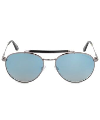 Tom Ford Colin Aviator Sunglasses Ft0338 14x 54 Pol | Silver Frame | Azure Blue Gradient Lenses