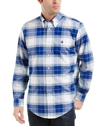 Brooks Brothers 1818 Brookscool Regent Fit Woven Shirt In Blue
