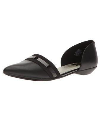 Anne Klein Womens Ak Sport Pointed Toe Slide Flats, Taupe, Size 7.5 In Brown