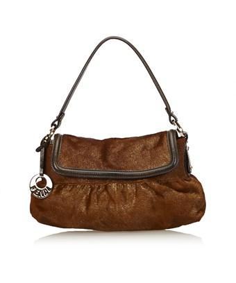 Fendi Pre-owned: Pony Hair Chef Bag In Brown