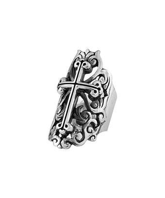 King Baby Studio Silver Cross Ring In Nocolor