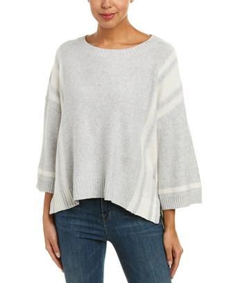 Splendid Stripe Wool-blend Pullover In Grey