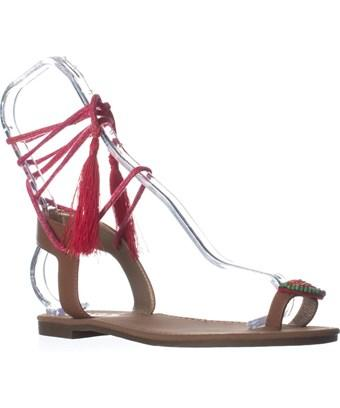 Sam Edelman Circus By  Binx5 Toe Ring Lace Up Sandals, Saddle In Brown