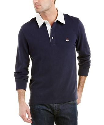 Brooks Brothers Rugby Regent Fit Polo In Blue