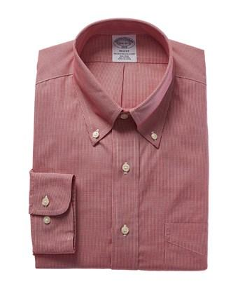 Brooks Brothers 1818 Regent Fit Dress Shirt In Red