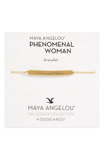 Dogeared Legacy Collection - Phenomenal Women Bar Bracelet In Gold
