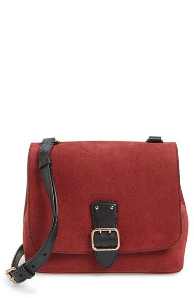 dc159294b2ed Burberry  Small Shellwood  Leather Crossbody Bag In Cherry