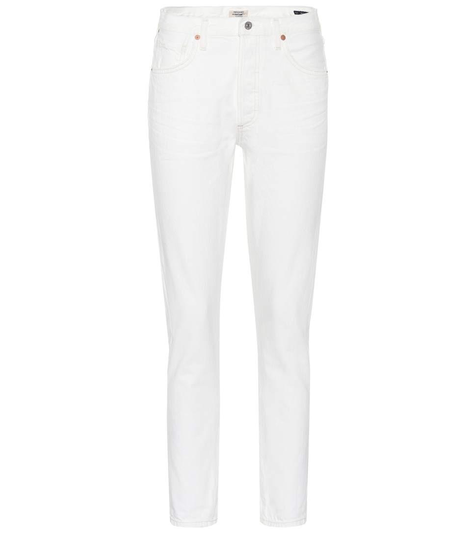 Citizens Of Humanity Liya High-rise Straight Jeans In White