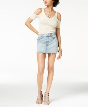 Hudson Vivid Distressed Denim Skirt In High And Dry In High Dry