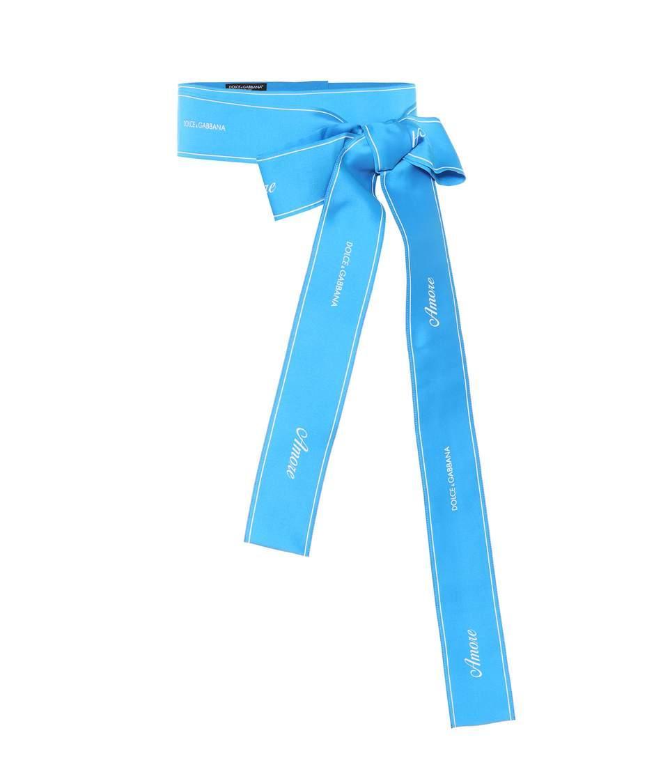 Dolce & Gabbana Satin Waist Belt