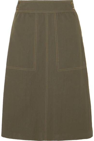 Vanessa Seward Finistere Canvas Skirt In Army Green