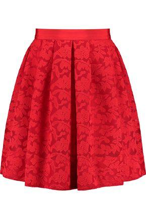 Sandro Woman Embroidered Lace Mini Skirt Red