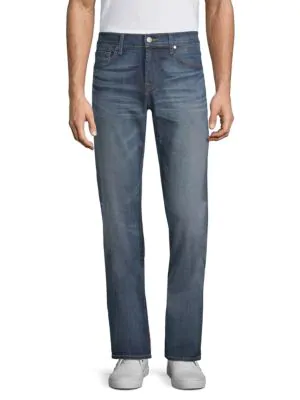 7 For All Mankind Unwound Straight Fit Jeans In Recon
