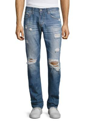 Ag Tellis Modern Slim-fit Distressed Jeans In 22 Years