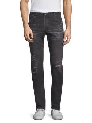 Ag Tellis Modern Slim-fit Distressed Jeans In 8 Years Grey