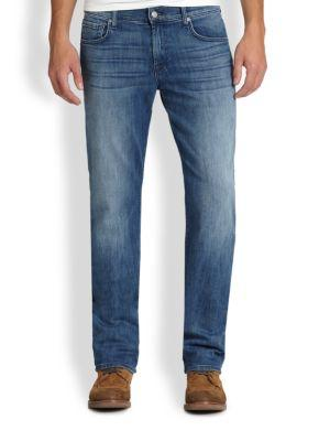 7 For All Mankind Carson Relaxed Fit Jeans In Nikkta Blue
