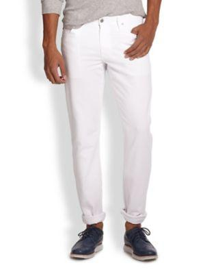 Ag The Graduate Tailored-fit Jeans In White